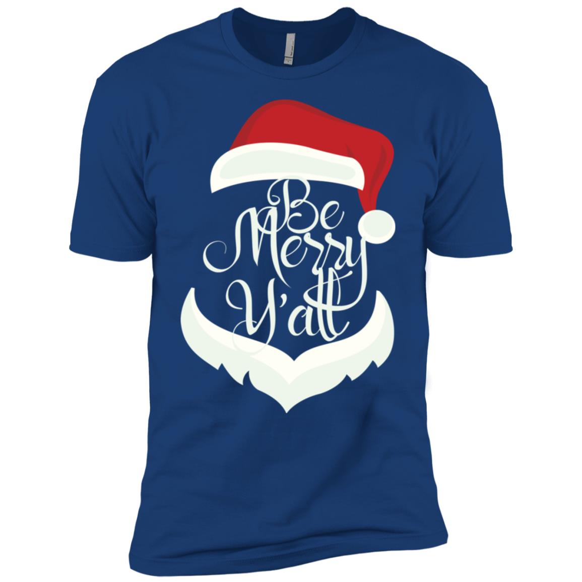 Be Merry Ya'll Alabama Christmas Funny Gift Men Short Sleeve T-Shirt
