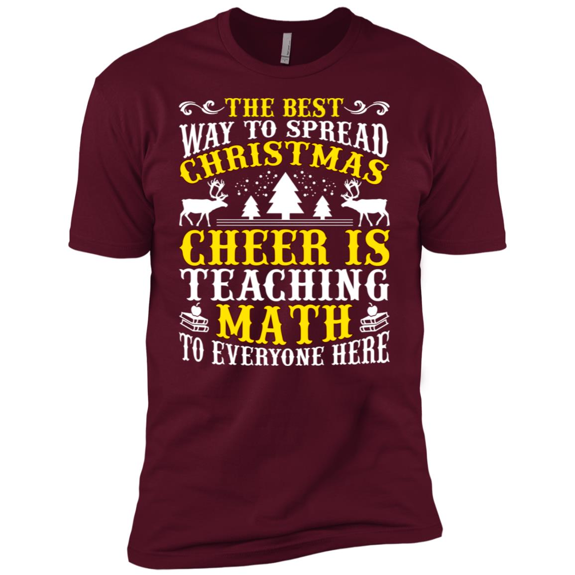 Cheer Teaching Math Men Short Sleeve T-Shirt