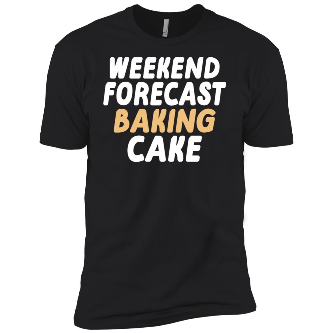 Weekend Forecast Baking Cake funny Men Short Sleeve T-Shirt