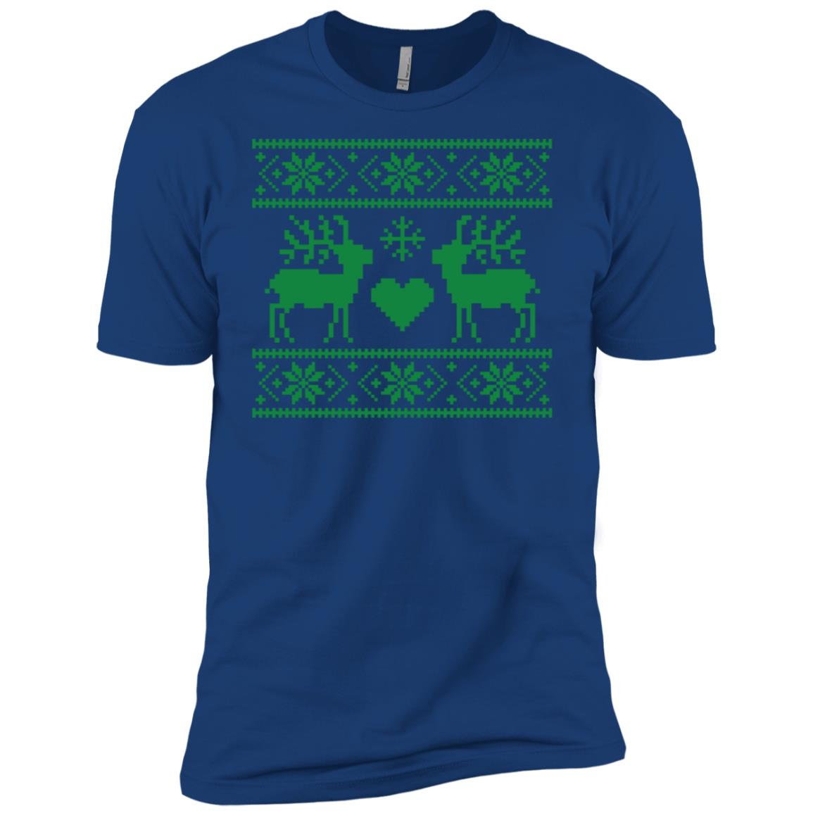 Ugly Christmas Sweater Style Reindeer-1 Men Short Sleeve T-Shirt