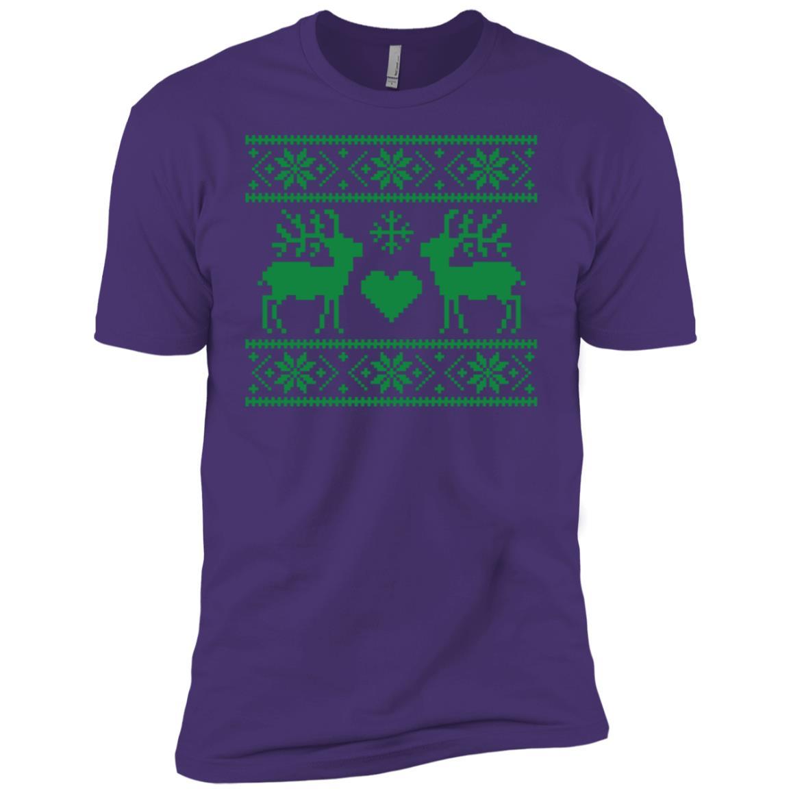 Ugly Christmas Sweater Style Reindeer-1 Men Short Sleeve T-Shirt