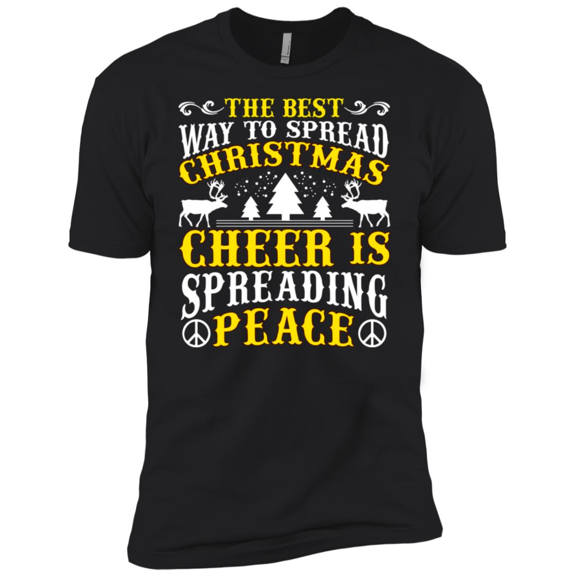 The Best Christmas Cheer Spreading Peace Men Short Sleeve T-Shirt