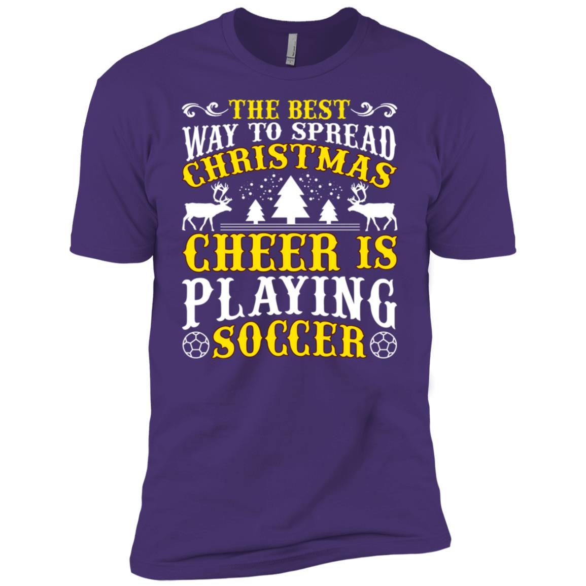 The Best Christmas Cheer Playing Soccer Men Short Sleeve T-Shirt