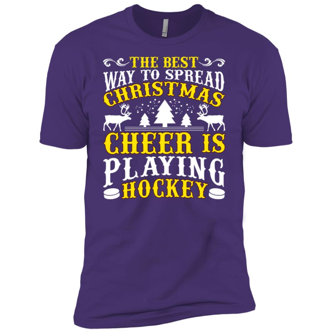The Best Christmas Cheer Playing Hockey Men Short Sleeve T-Shirt