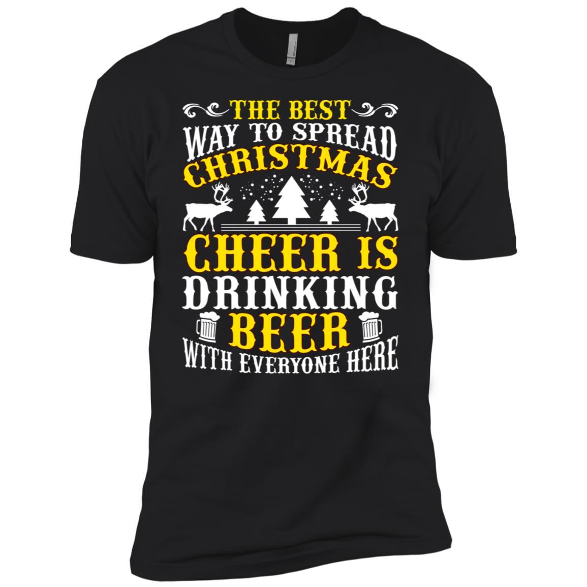 The Best Christmas Cheer Drinking Beer Men Short Sleeve T-Shirt