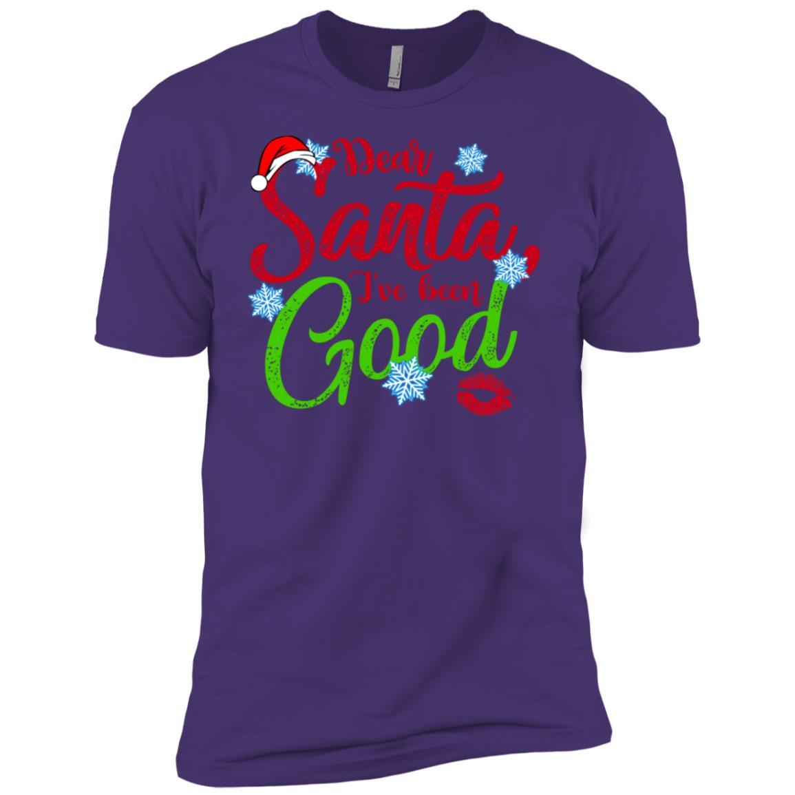 Dear Santa I've Been Good Xmas Men Short Sleeve T-Shirt