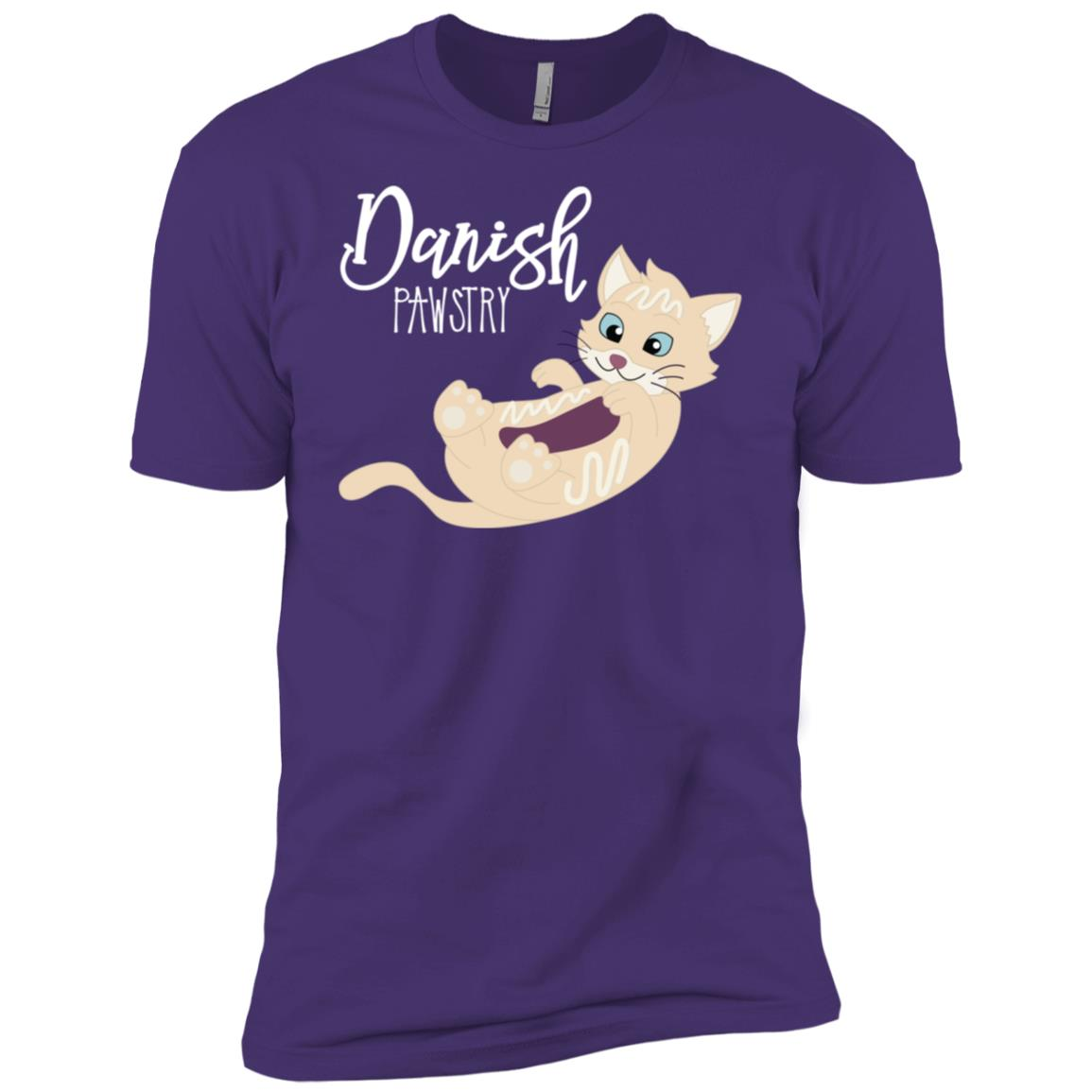 Danish Pawstry Kitty Cat Pastry Pun Funny Gift Men Short Sleeve T-Shirt