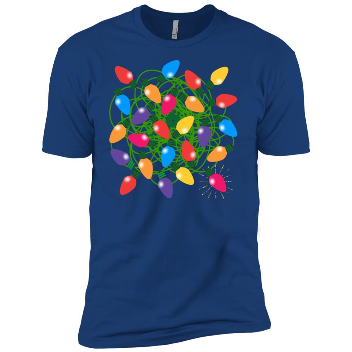 Christmas Light Tangle – Merry & Bright! Men Short Sleeve T-Shirt