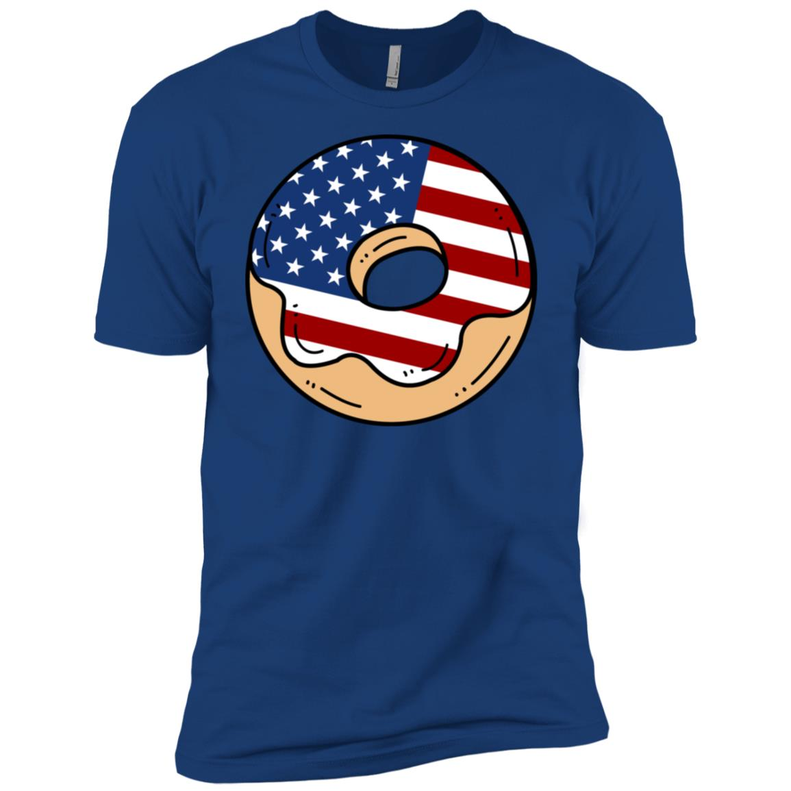 Donut Usa Flag Patriotic Pride 4th Of July Cute Long Sleev Men Short Sleeve T-Shirt