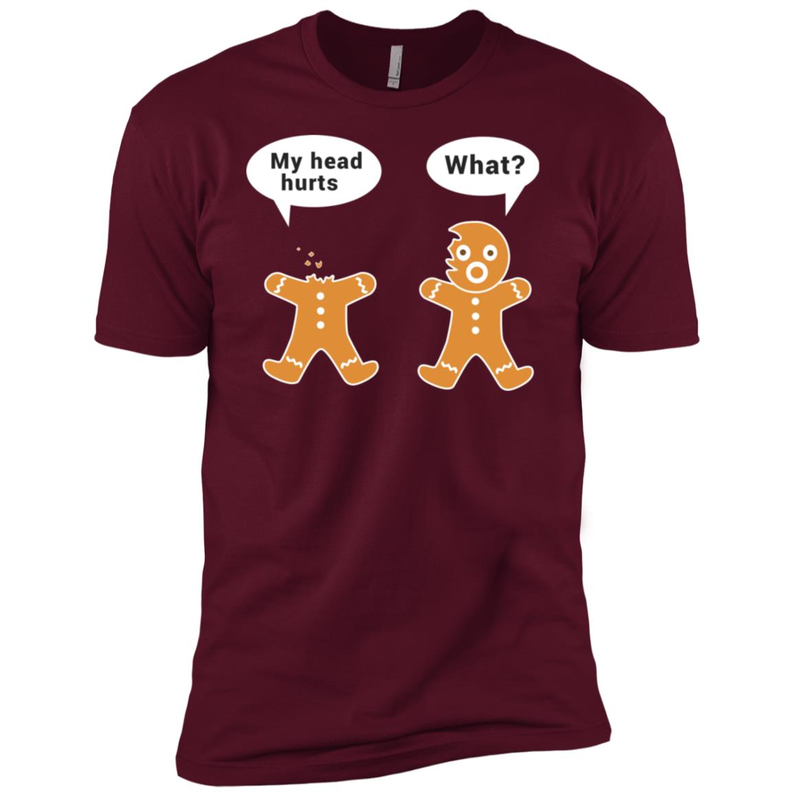 Funny Gingerbread Cookie Christmas Men Short Sleeve T-Shirt