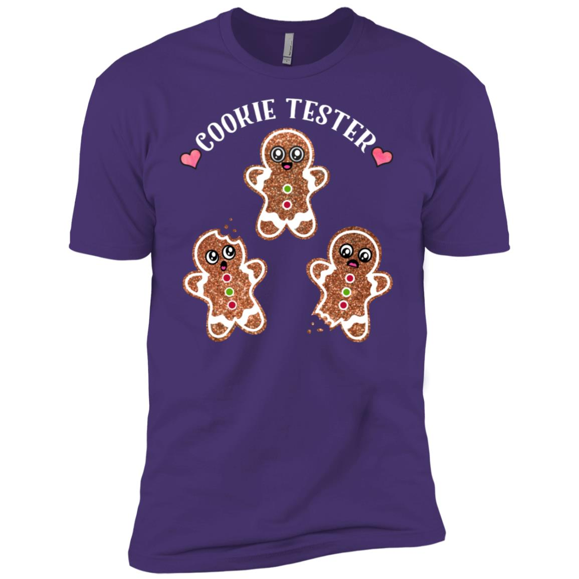 Funny Cookie Tester Gingerbread Christmas Quote Baking Men Short Sleeve T-Shirt