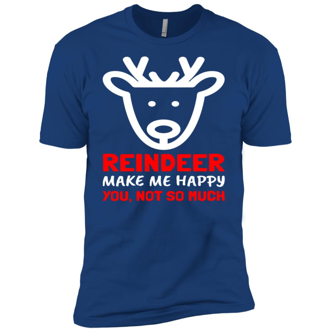 Funny Christmas Reindeer Gift Men Short Sleeve T-Shirt