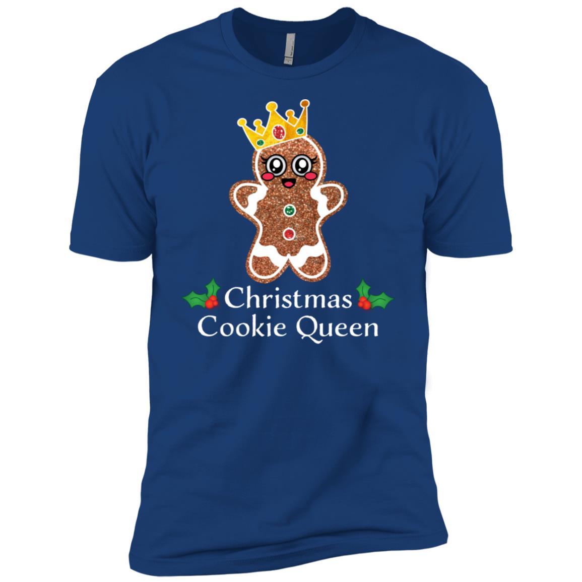 Funny Christmas Cookie Queen Gingerbread Xmas Baking Men Short Sleeve T-Shirt