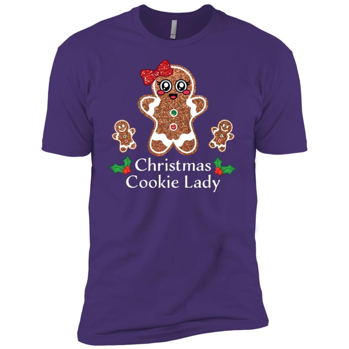 Funny Christmas Cookie Lady Xmas Gingerbread Baking Men Short Sleeve T-Shirt