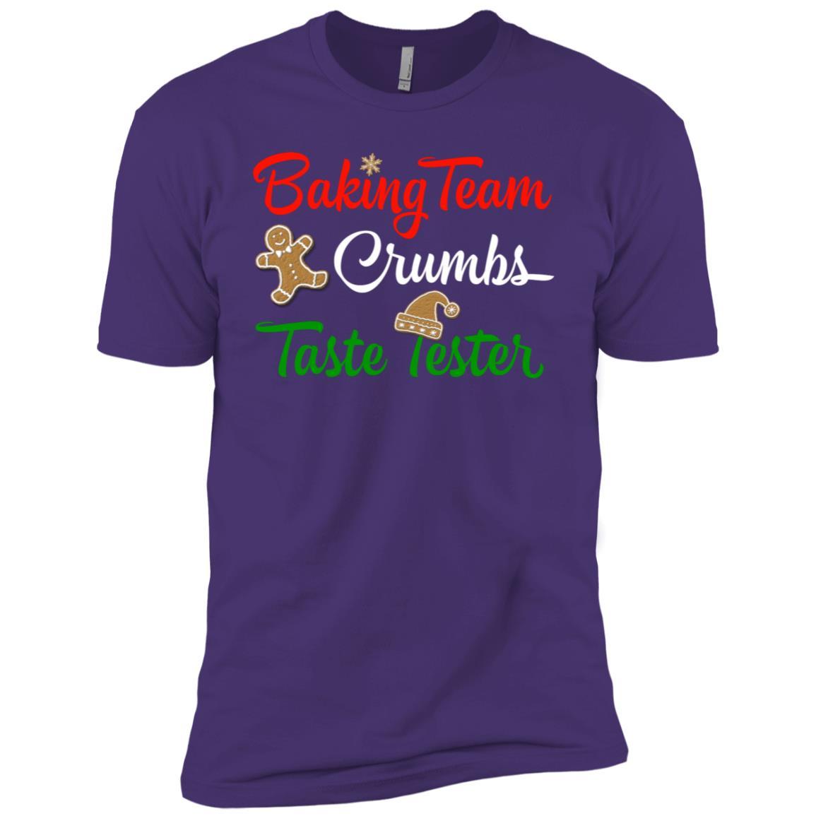 Funny Christmas Baking Team Crumbs Taste Tester Men Short Sleeve T-Shirt