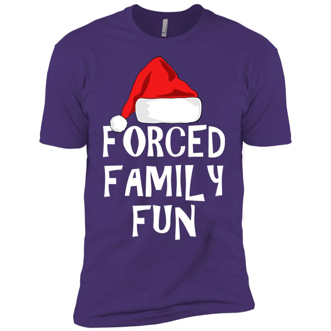 Forced Family Fun Sarcastic Christmas Eve Men Short Sleeve T-Shirt