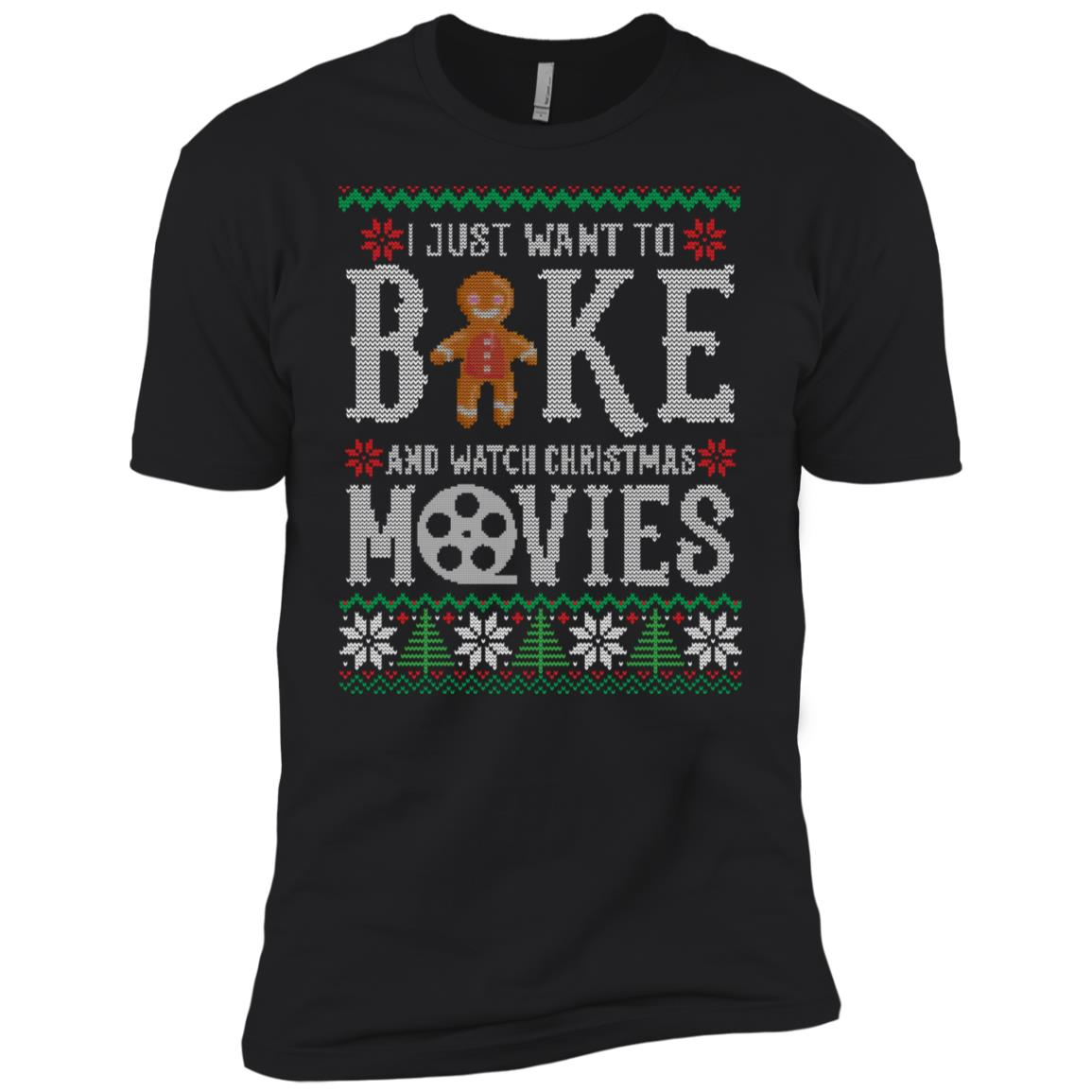 I Just Want To Bake And Watch Christmas Movies Men Short Sleeve T-Shirt