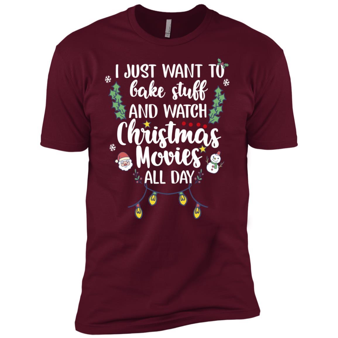 I Bake Stuff & Watch Christmas Movies All Day Men Short Sleeve T-Shirt