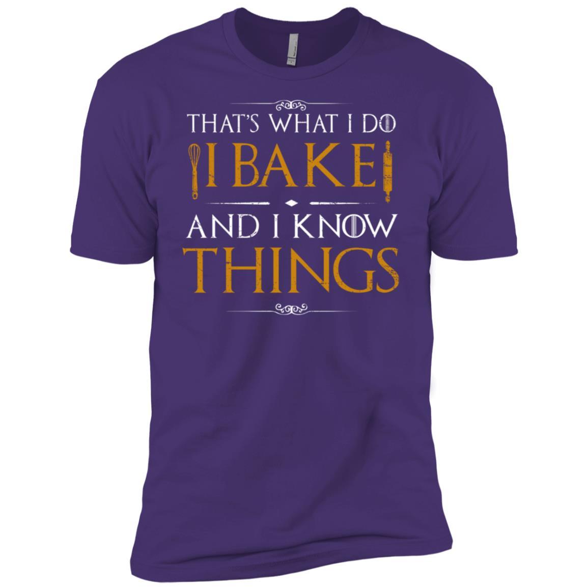 I Bake and I Know Things, Funny Baking Baker Gift Shir Men Short Sleeve T-Shirt