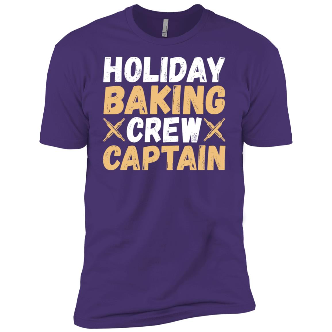 Holiday Baking Crew Captain Funny baking Men Short Sleeve T-Shirt