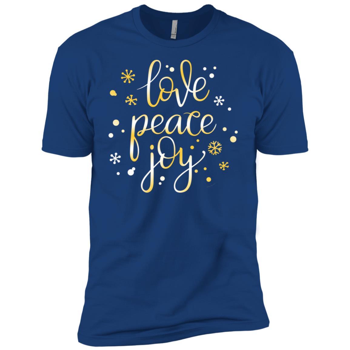 Holiday Love Peace and Joy d Men Short Sleeve T-Shirt