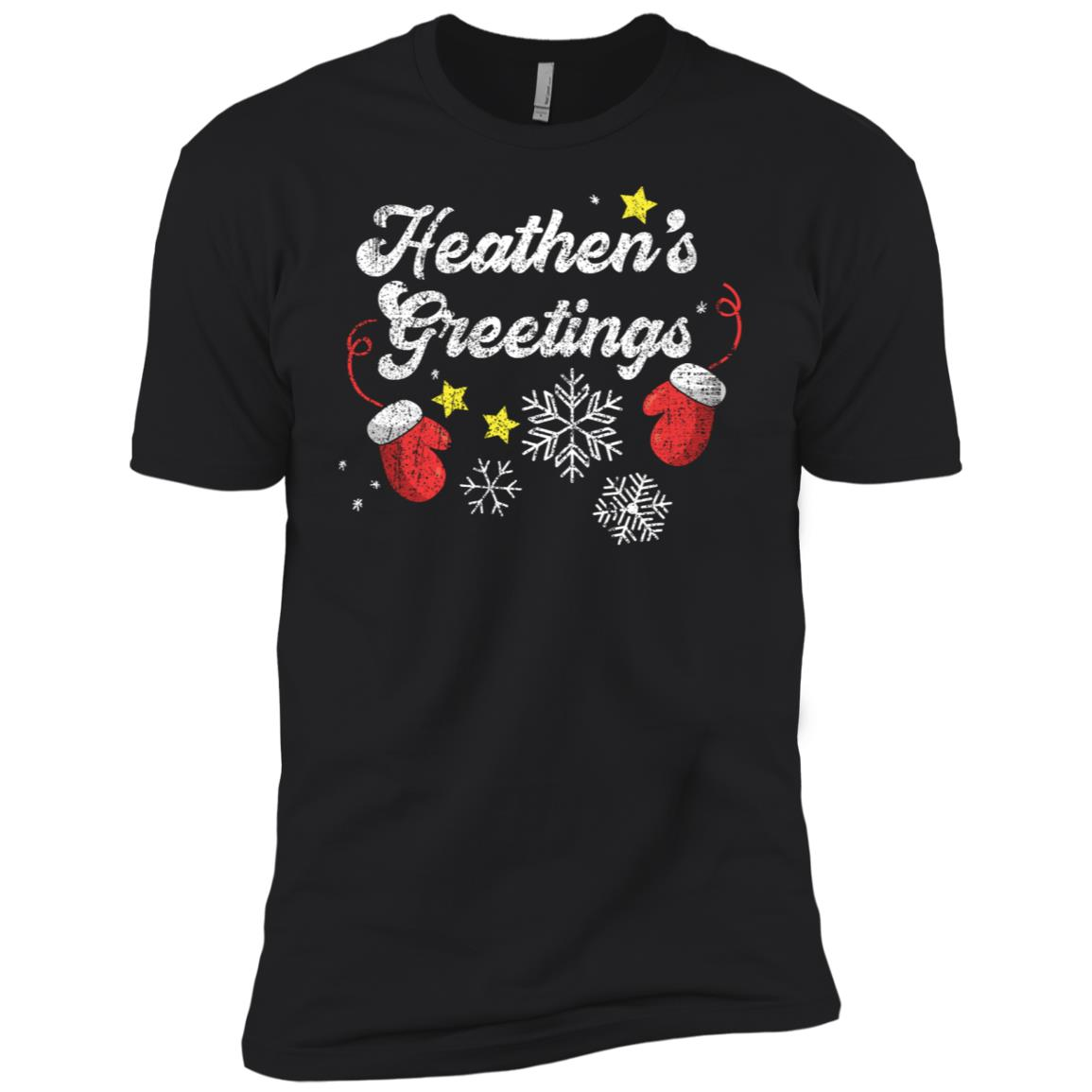 Heathen's Greetings Atheist Christmas (Distressed) Men Short Sleeve T-Shirt