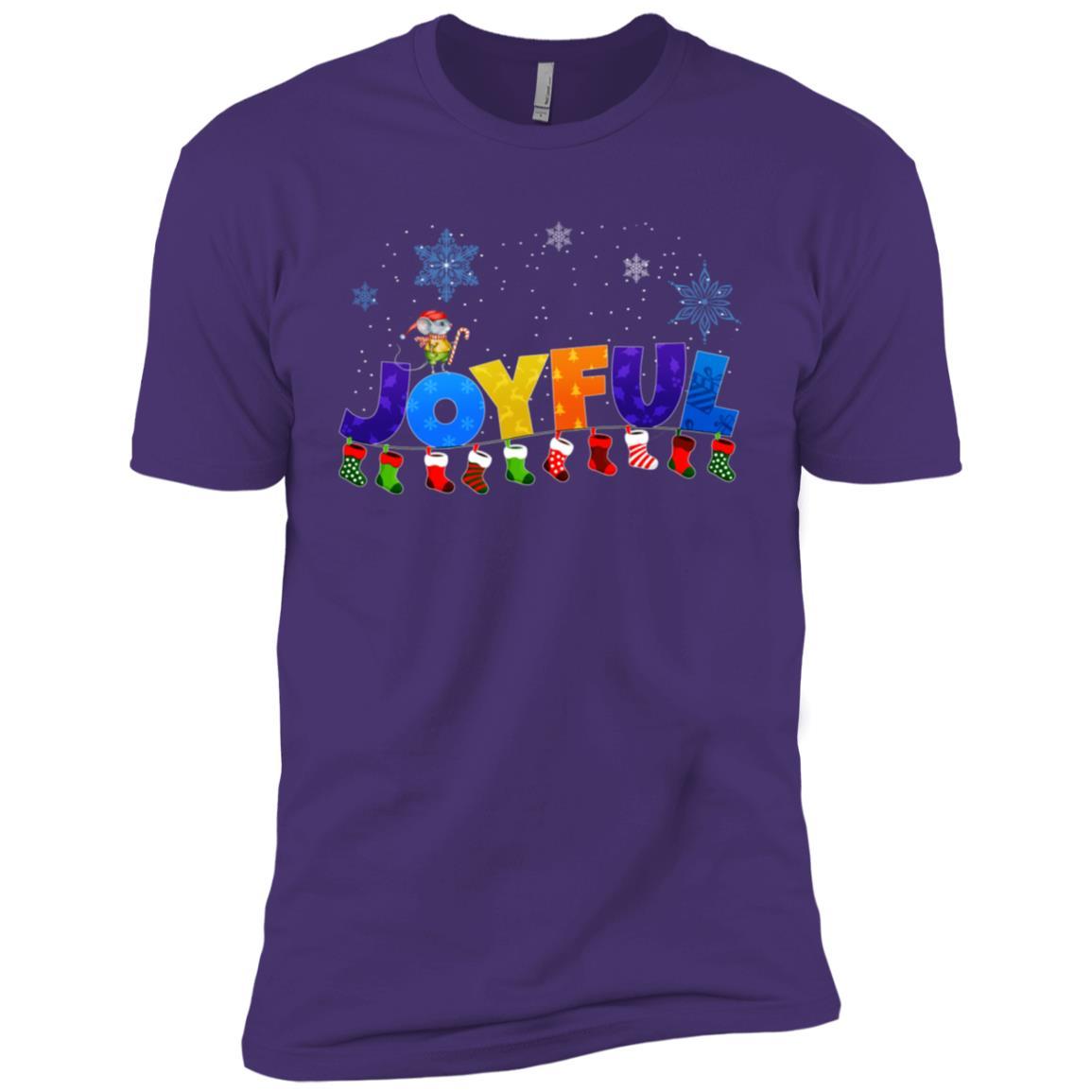 Happy, Joyful and colorful Christmas d Men Short Sleeve T-Shirt