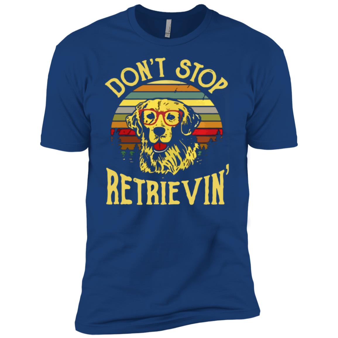 Golden Retriever Dont Stop Retrievin Men Short Sleeve T-Shirt