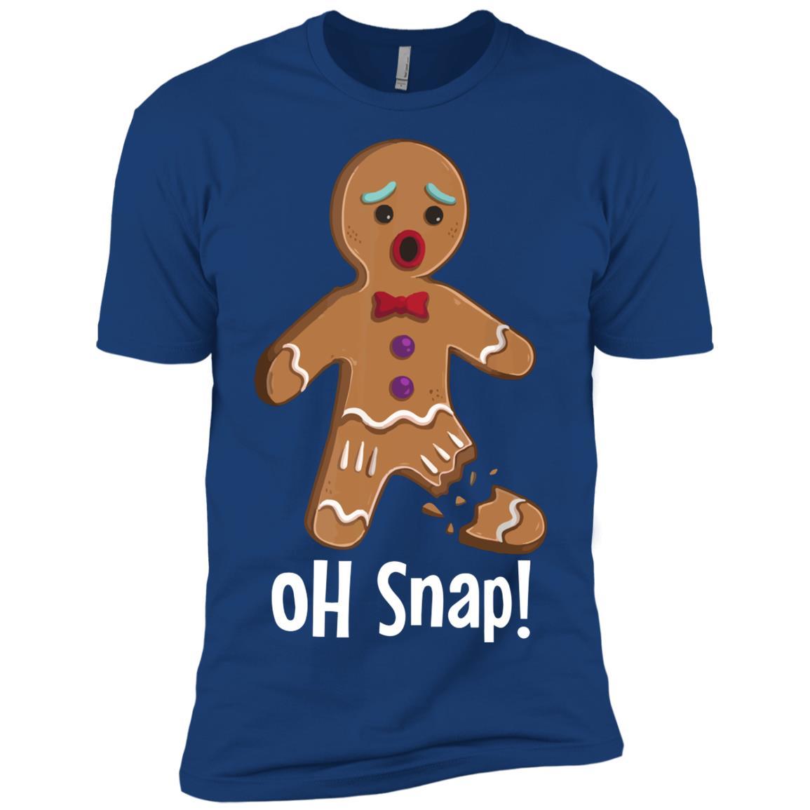 Gingerbread Man – Oh Snap Funny Cute Christmas Men Short Sleeve T-Shirt