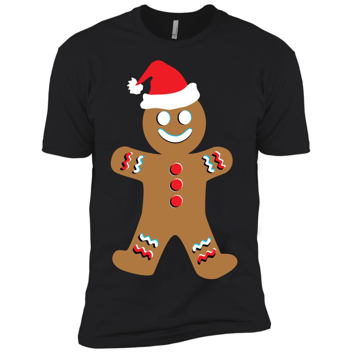 Gingerbread Funny Christmas Santa Hat Men Short Sleeve T-Shirt