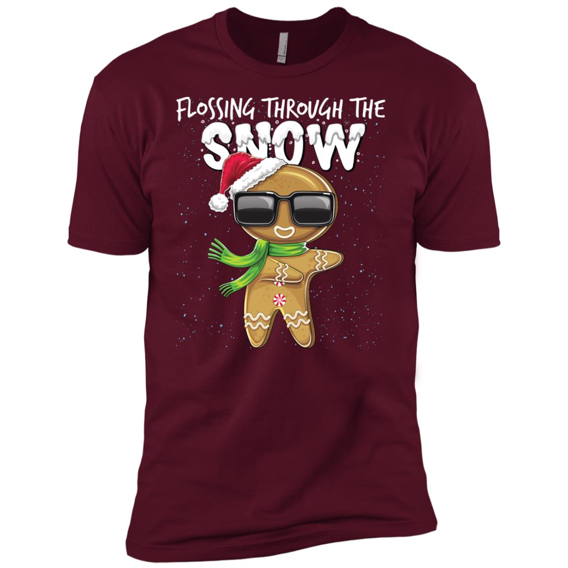 Flossing Through the Snow Gingerbread Gift-1 Men Short Sleeve T-Shirt