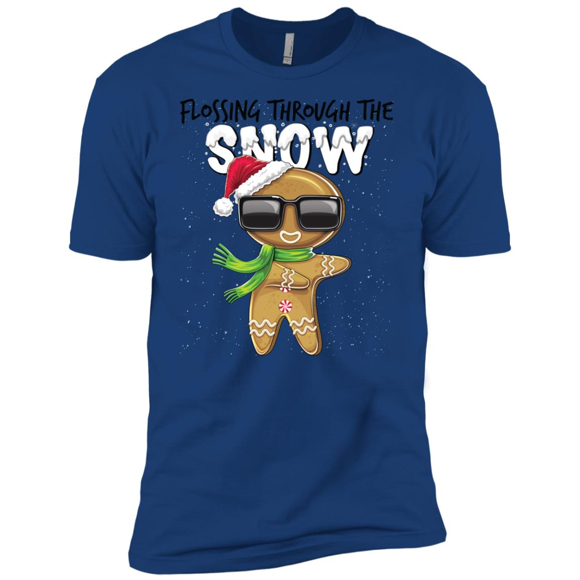 Flossing Through the Snow Gingerbread Gift Men Short Sleeve T-Shirt