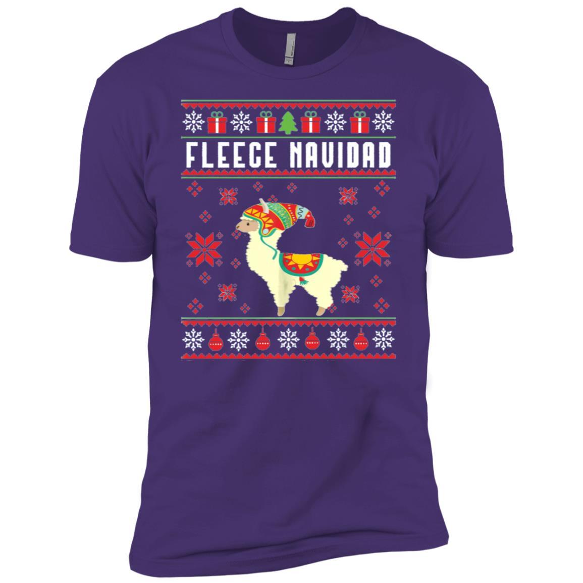 Fleece Navidad Ugly Style Llama Funny Llama Gifts Men Short Sleeve T-Shirt