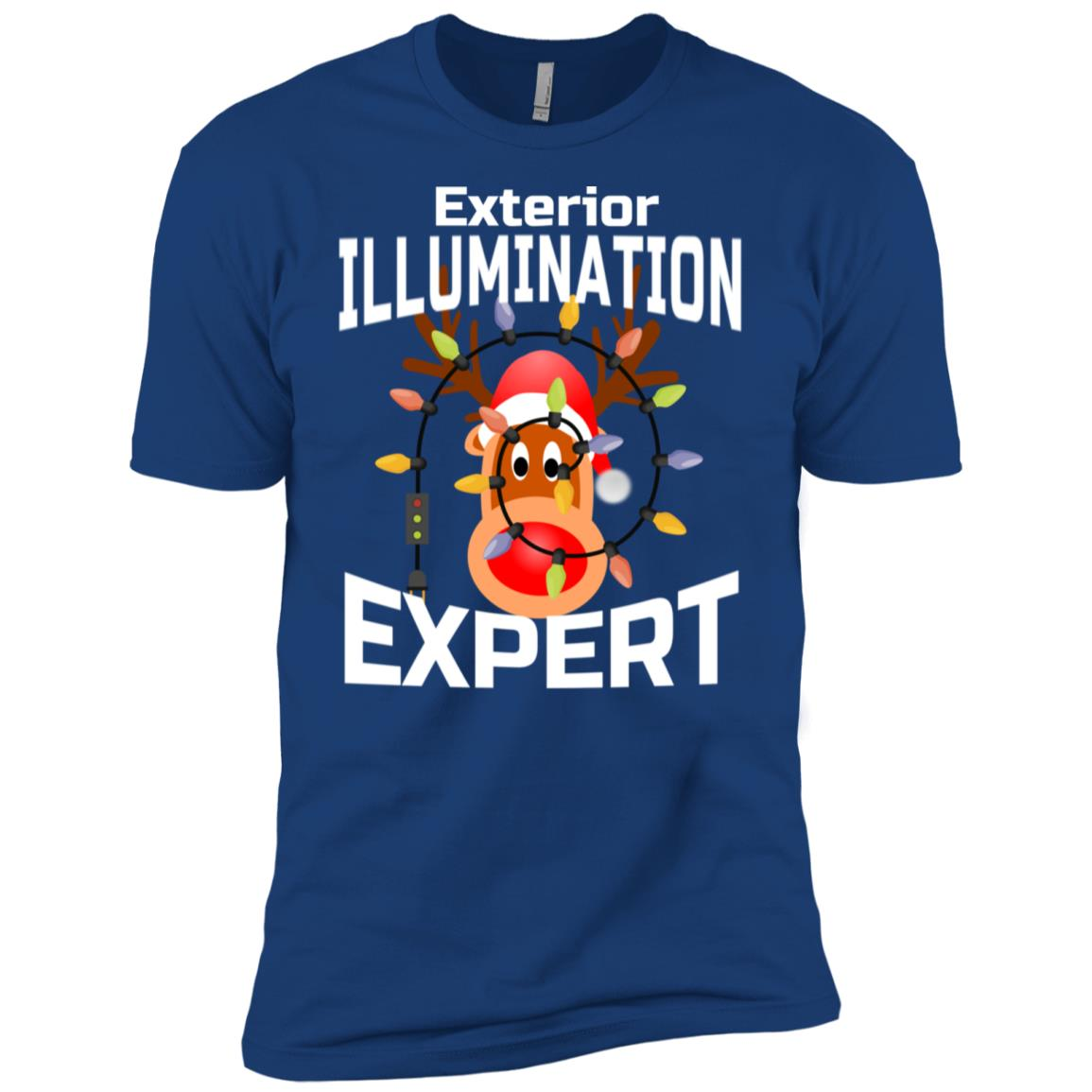 Exterior Illumination Expert for Christmas Lights Experts Men Short Sleeve T-Shirt