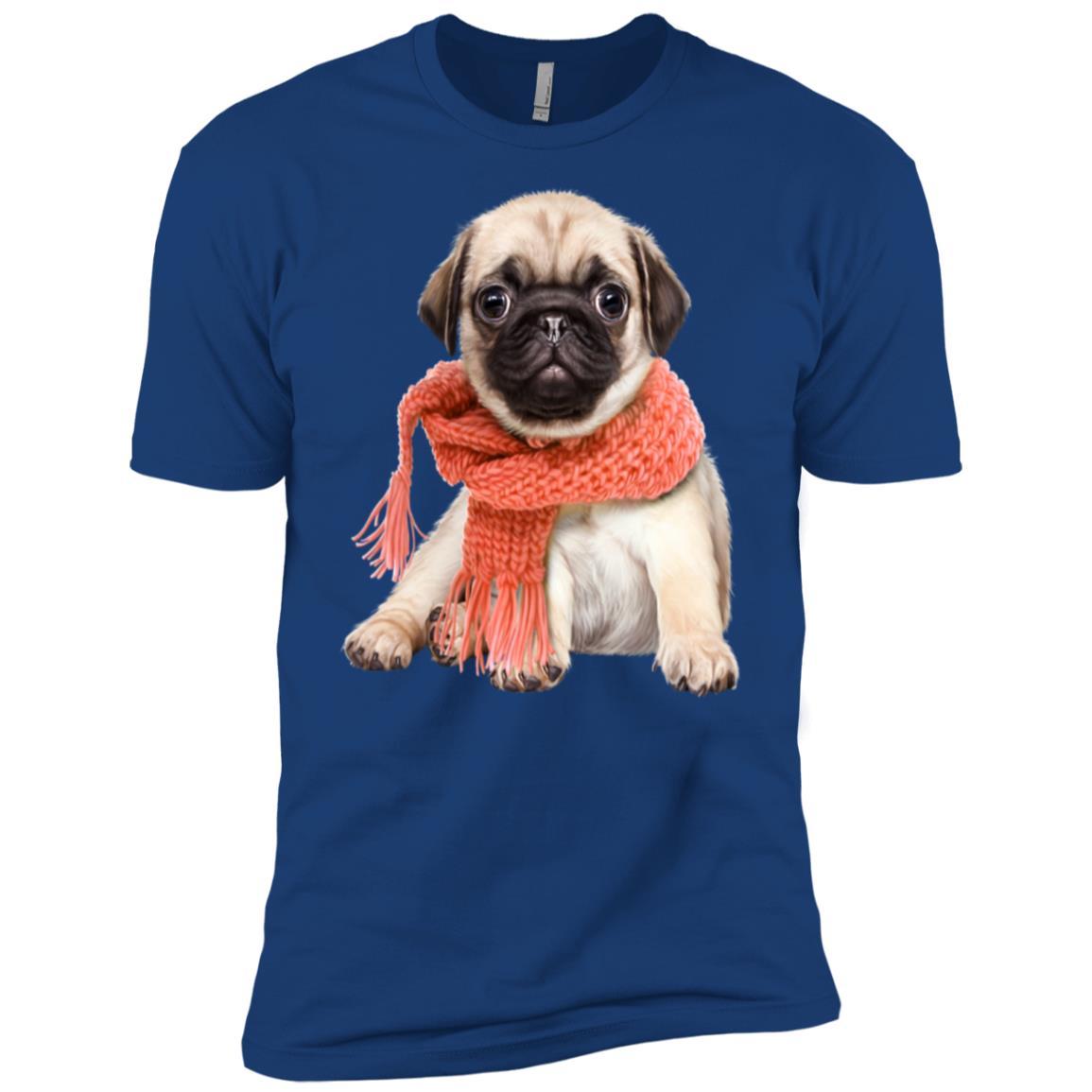 Cute Christmas Pug in Scarf Men Short Sleeve T-Shirt