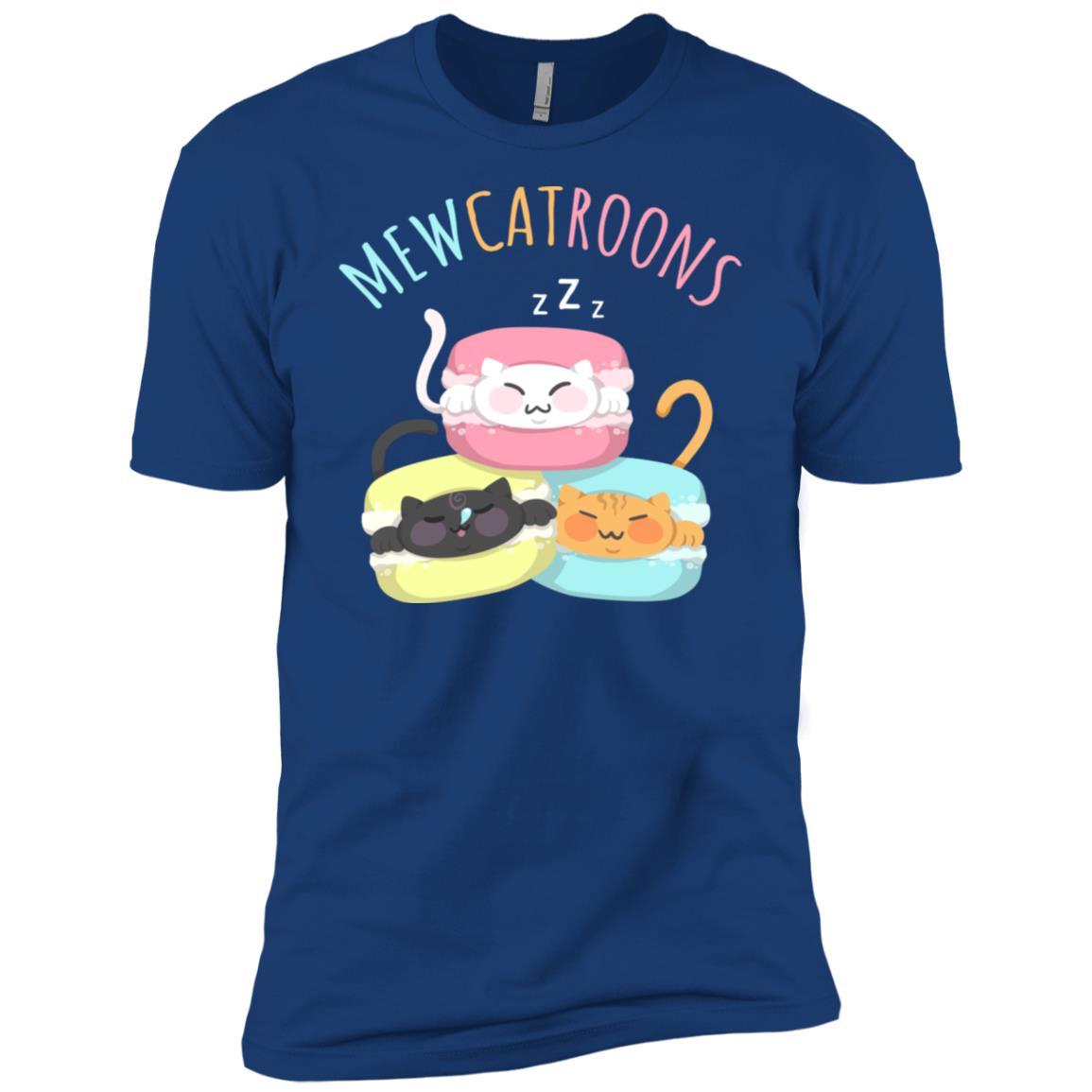 Mewcatroons Kitty Cat Macaroon Funny Cookie Gift Pun Men Short Sleeve T-Shirt