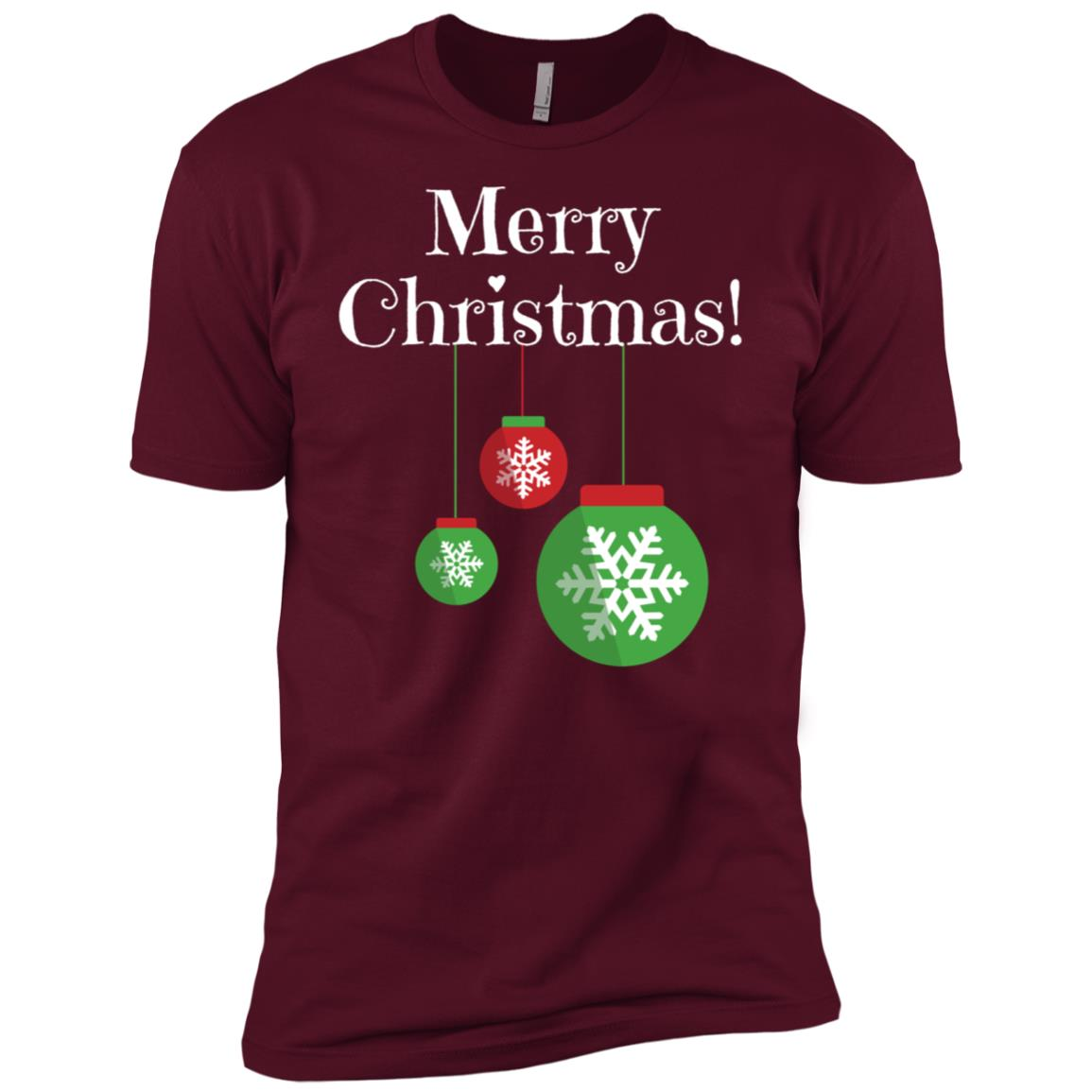 Merry Christmas Snowflake Ornament Bulb-1 Men Short Sleeve T-Shirt