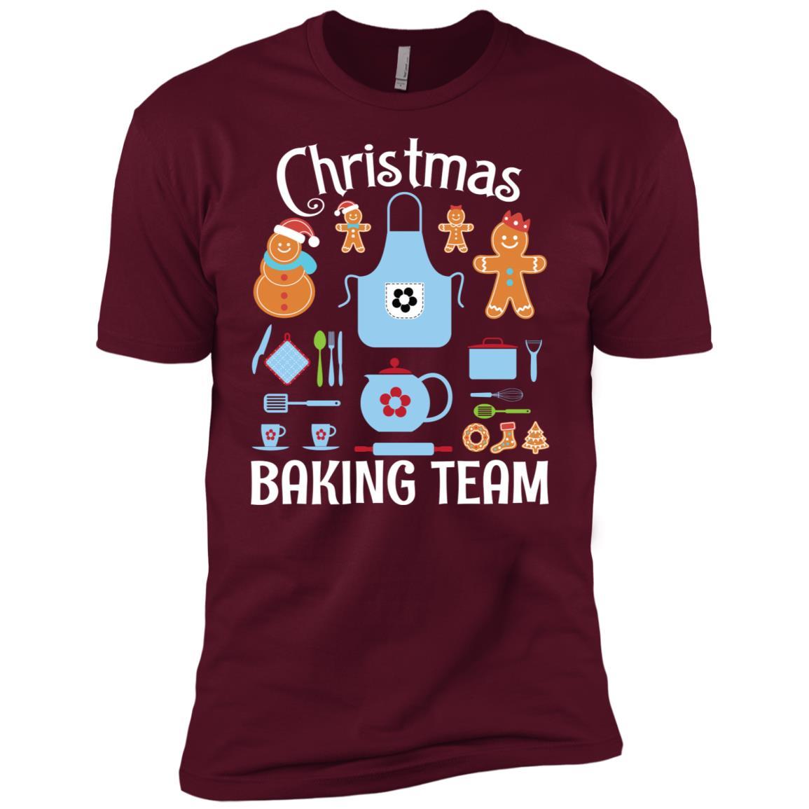 Lovely Christmas Baking Team Cookies Gingerbread Xmas Men Short Sleeve T-Shirt