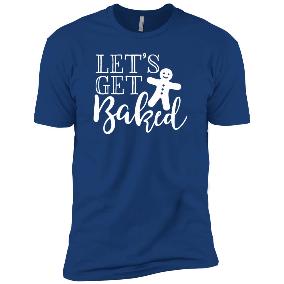 Let's Get Baked Funny Humor Christmas Baking Men Short Sleeve T-Shirt