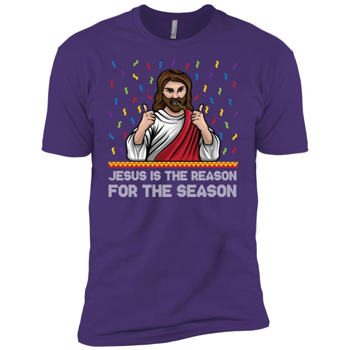 Jesus is the Reason For the season Christian Christmas Sleev Men Short Sleeve T-Shirt