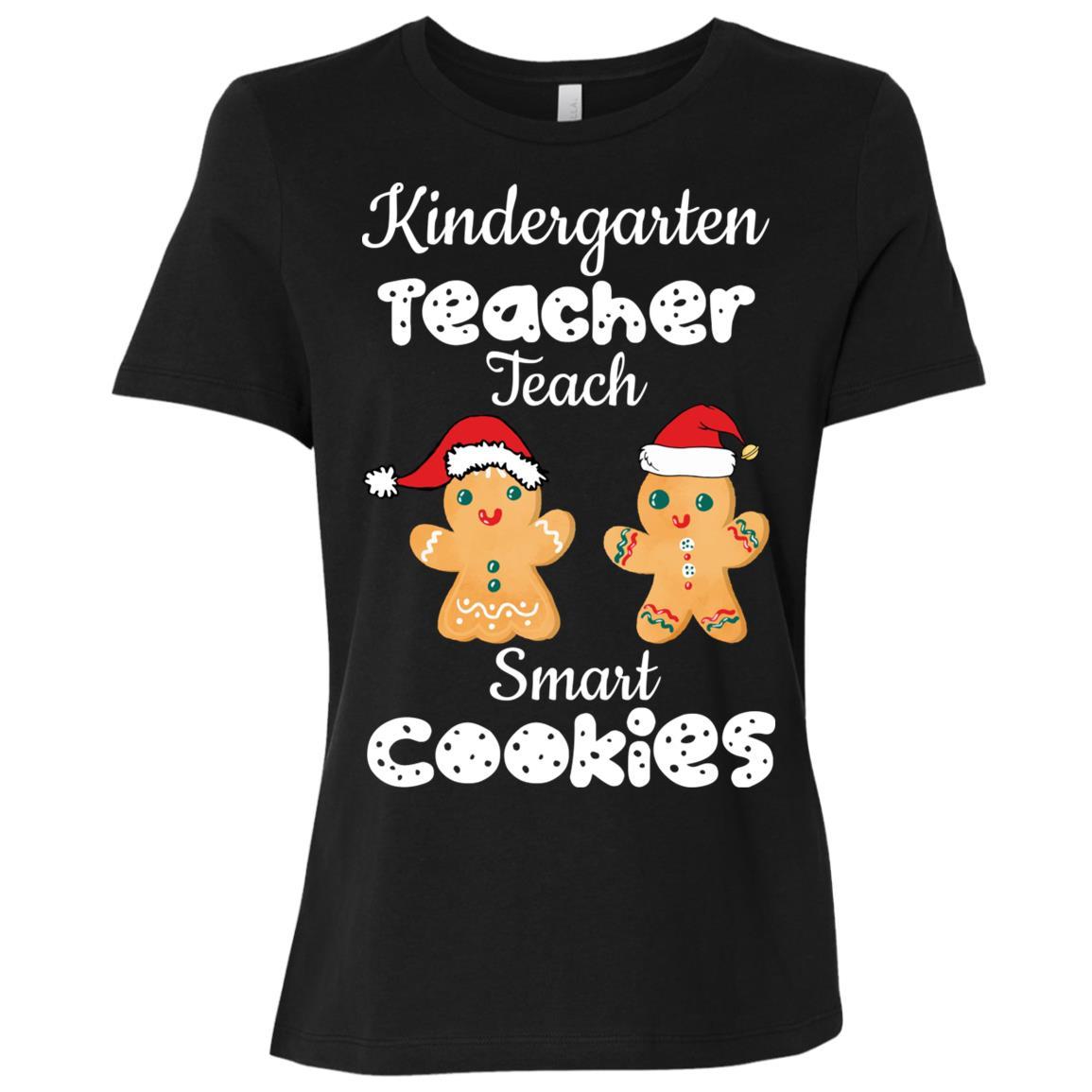 Kindergarten teachers teach smart cookies xmas Women Short Sleeve T-Shirt