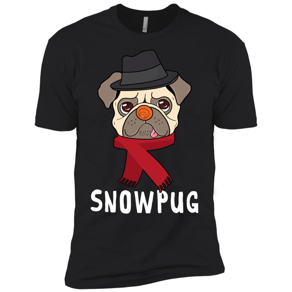 Snowpug Pug Snowman Costume Men Short Sleeve T-Shirt