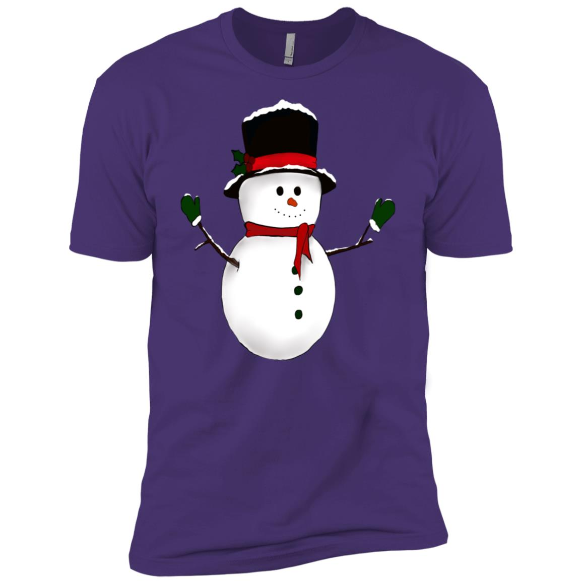 Snowman Holiday Christmas Men Short Sleeve T-Shirt