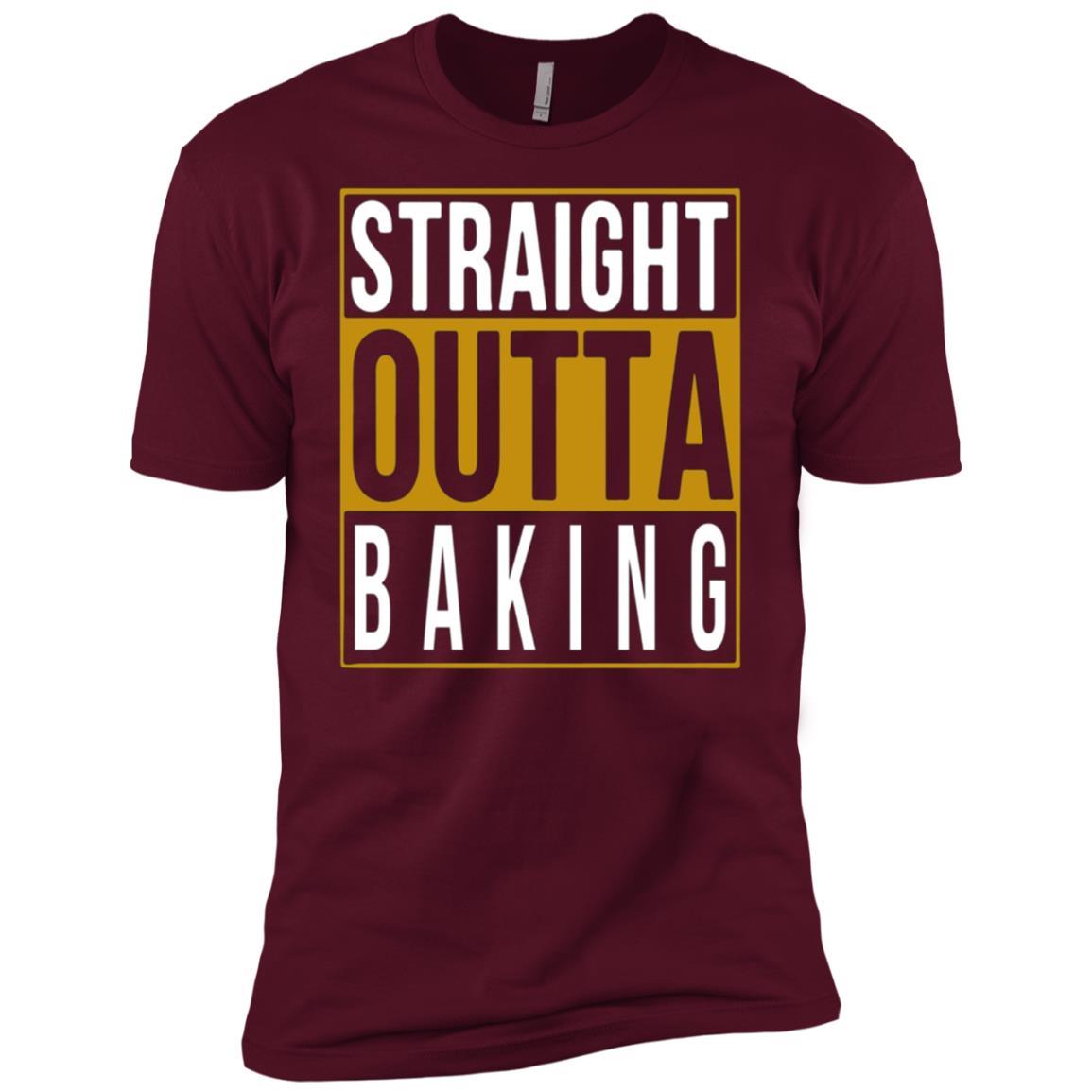 Straight Outta Baking Tee for girl Men Short Sleeve T-Shirt