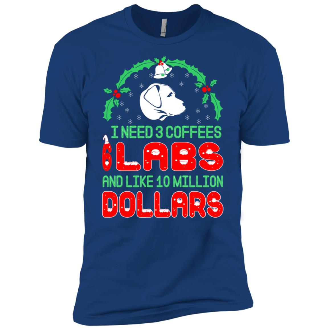 Need 3 Coffees 6 Labs Christmas Ugly Sweater-1 Men Short Sleeve T-Shirt