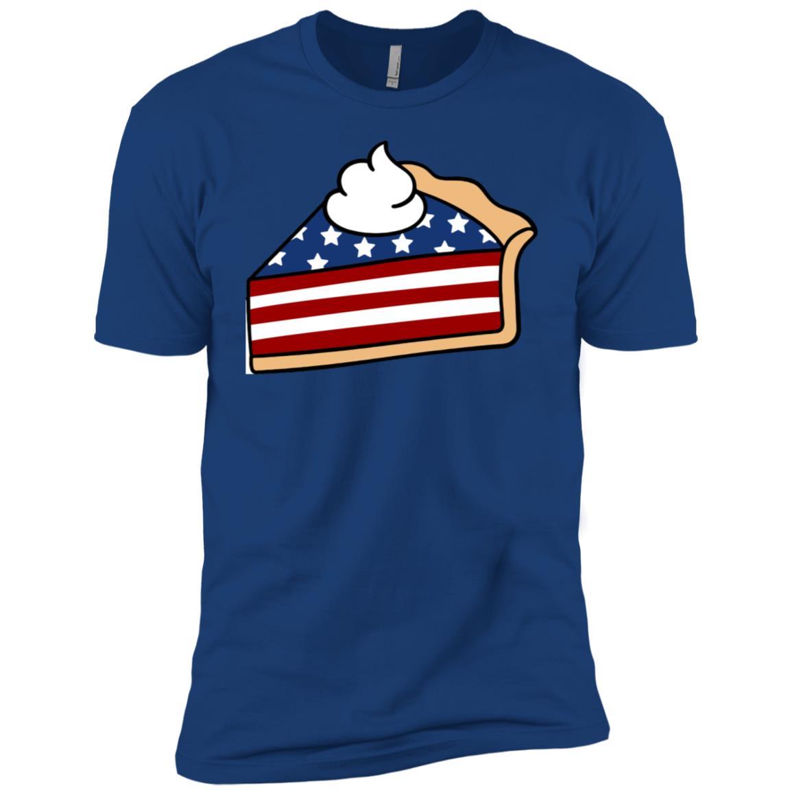 Pumpkin Pie Usa Flag Patriotic Pride 4th Of July Cute Men Short Sleeve T-Shirt