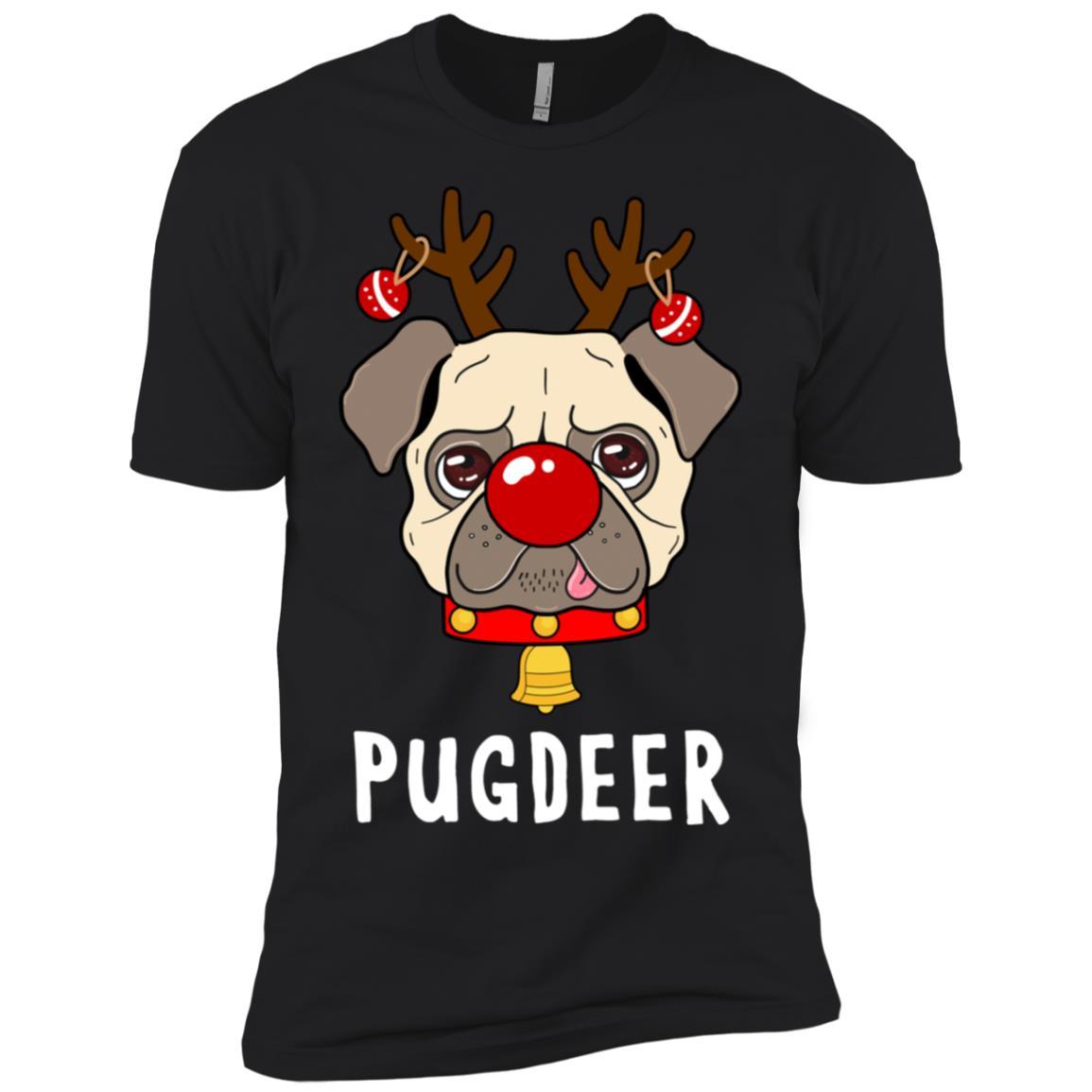 Pugdeer Pug Reindeer Costume Men Short Sleeve T-Shirt