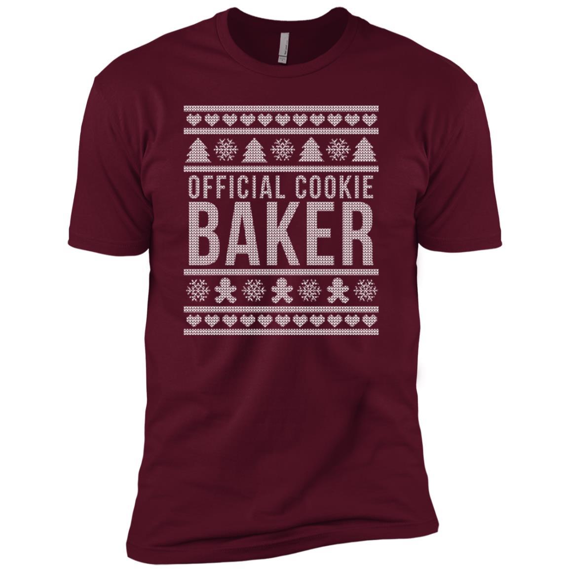 Official Cookie Baker – Baking Christmas Sweater Men Short Sleeve T-Shirt