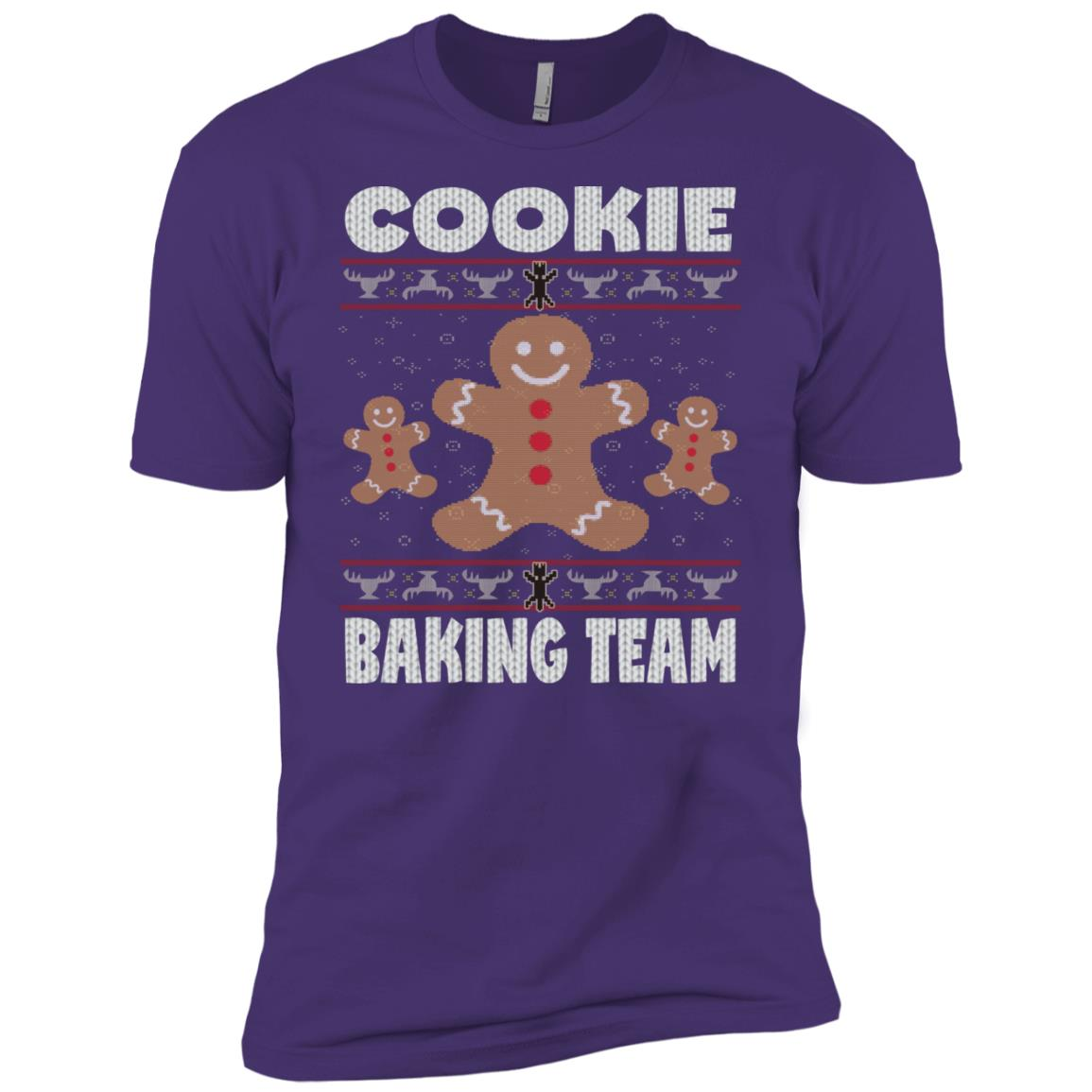 Cookie Baking Team Funny Ugly Sweater Xmas Gift Men Short Sleeve T-Shirt