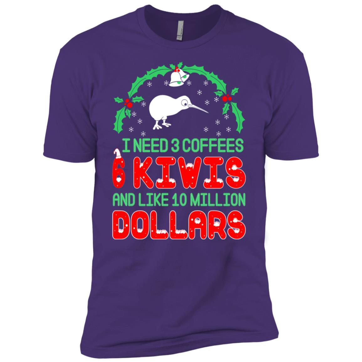 Need 3 Coffees 6 Kiwis Christmas Ugly Sweater-1 Men Short Sleeve T-Shirt